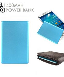 Credit Card Size 1400mAh  Power Bank - Blue