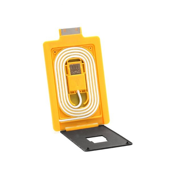 Credit Card Style 30 Pin USB Data Charge Sync Cable  - Orange