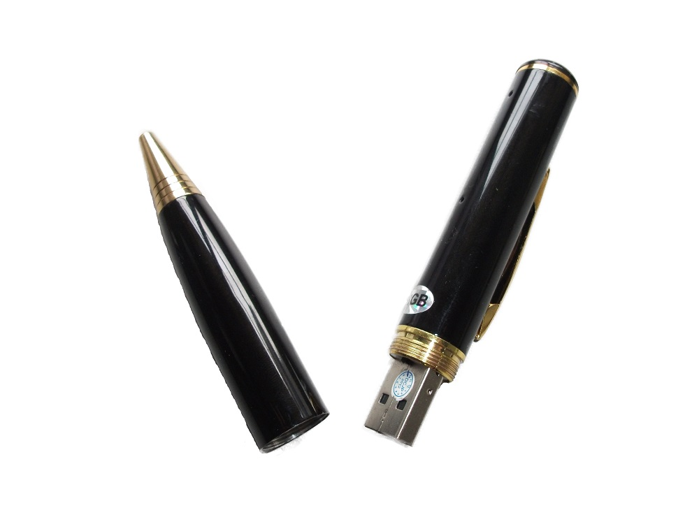 Spy Pen with Camera and 4GB Internal Memory - USB Gold