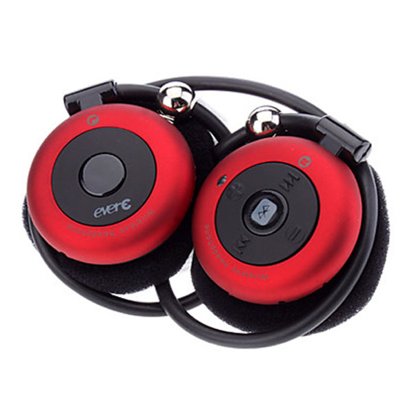 Evere A2DP Bluetooth Stereo Headphone - Red