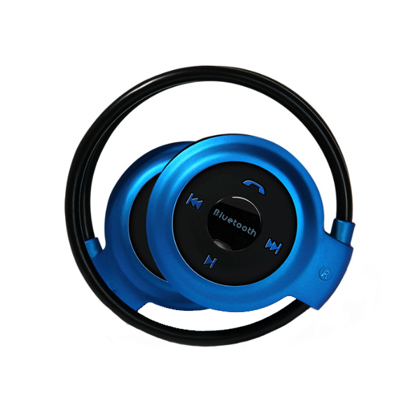 Foldable Bluetooth V2.1 Handsfree Stereo Headset With Mic - Blue