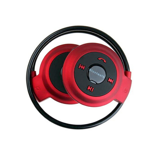 Foldable Bluetooth V2.1 Handsfree Stereo Headset With Mic - Red