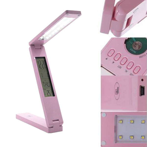 Touch Sensitive Foldable LED Table Lamp - Pink