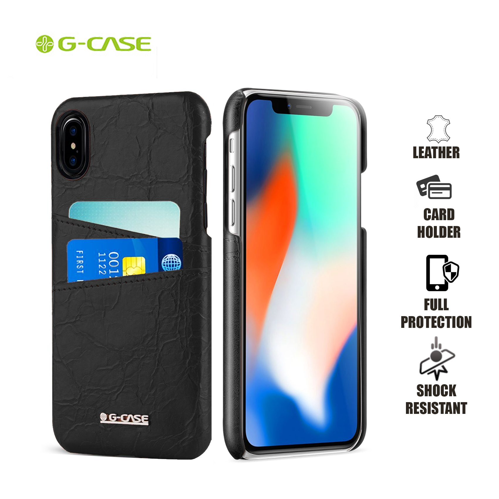 Gcase Koco Series Protective Shell Case for iPhone X - Black