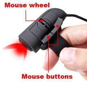 Geyes Wireless Finger Mouse - Black