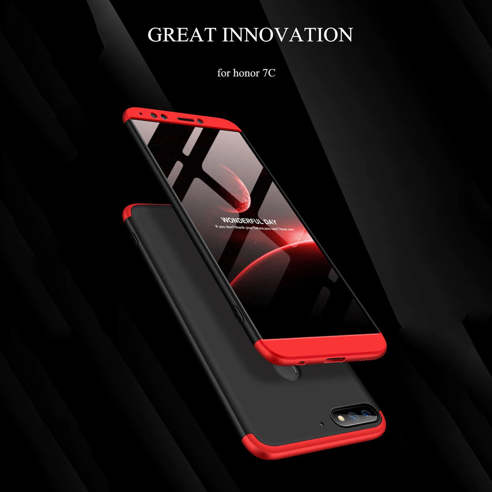 GKK Huawei Honor 7C 360 Full Protection Case - Red