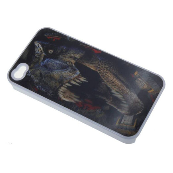 Godzilla 3D Protective case for Iphone 4/4s - White