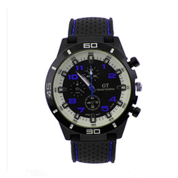 Water Resistant Grand Touring Racing Sport Watch - Blue