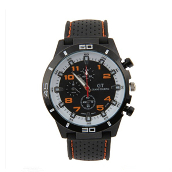 Water Resistant Grand Touring Racing Sport Watch - Orange