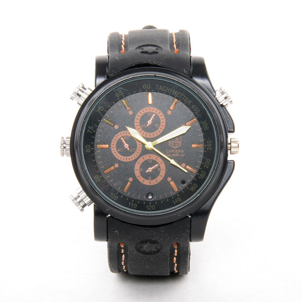 Water Resistant Spy Watch With  8GB Memory - Bronze