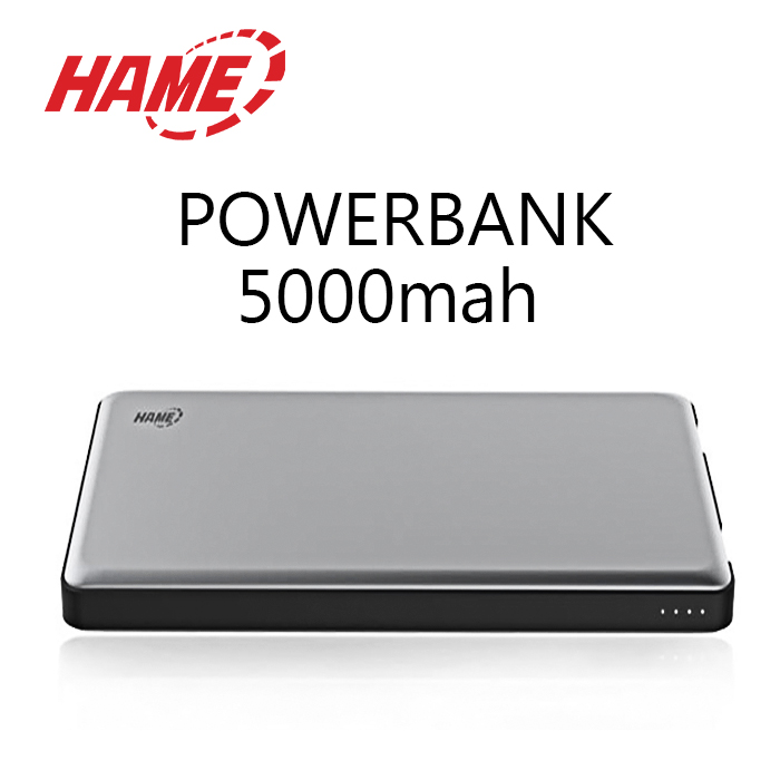 Hame P49 5000 mah Dual Input Power Bank - Gray
