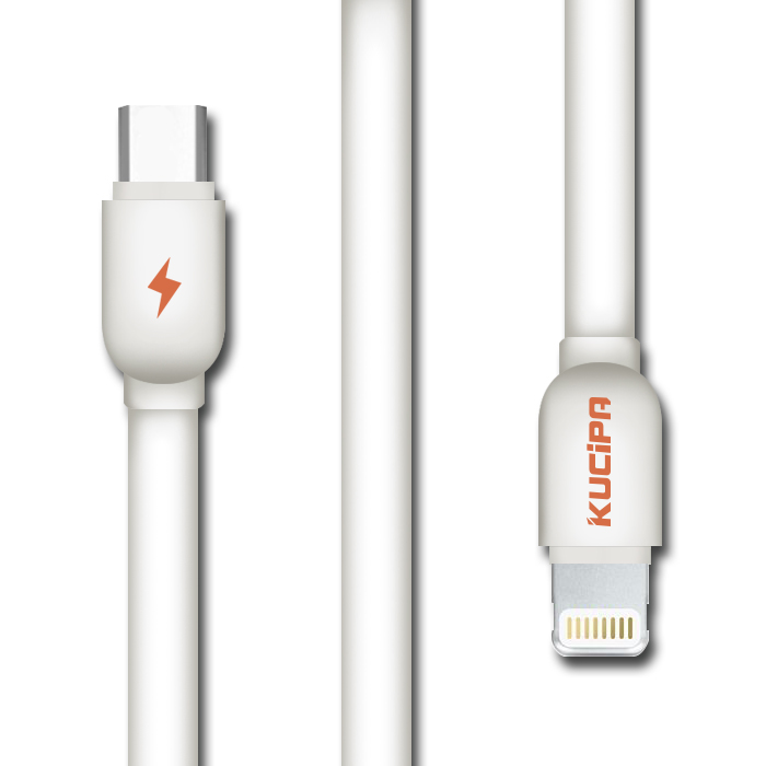 Kucipa 1 Meter Type-C to Lightning Data and Charging Cable - White