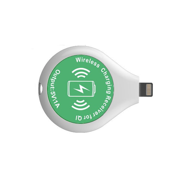 WJC Lightning  Wireless Charging Receiver for QI - White