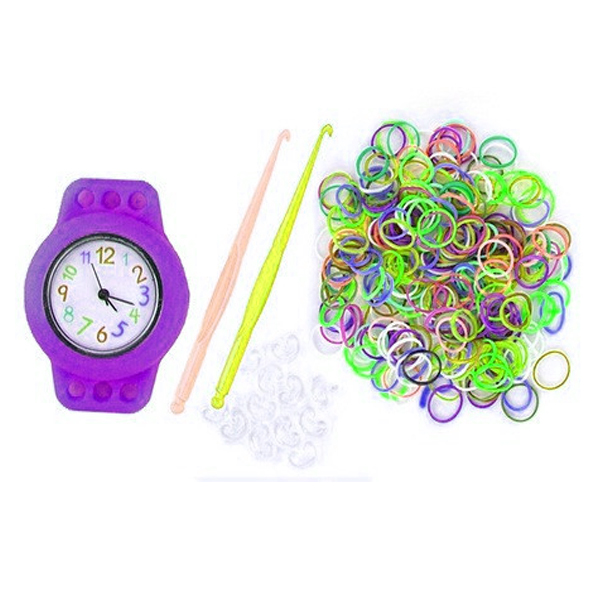 Kiddie Loom Watch Bracelet - Purple