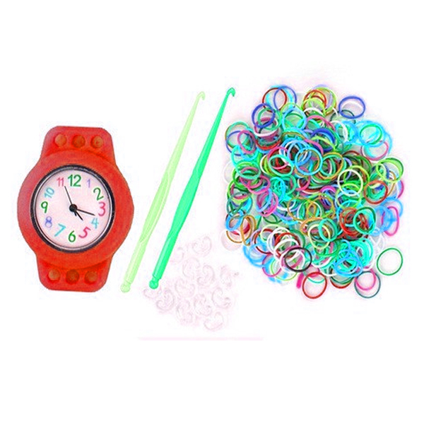 Kiddie Loom Watch Bracelet - Red