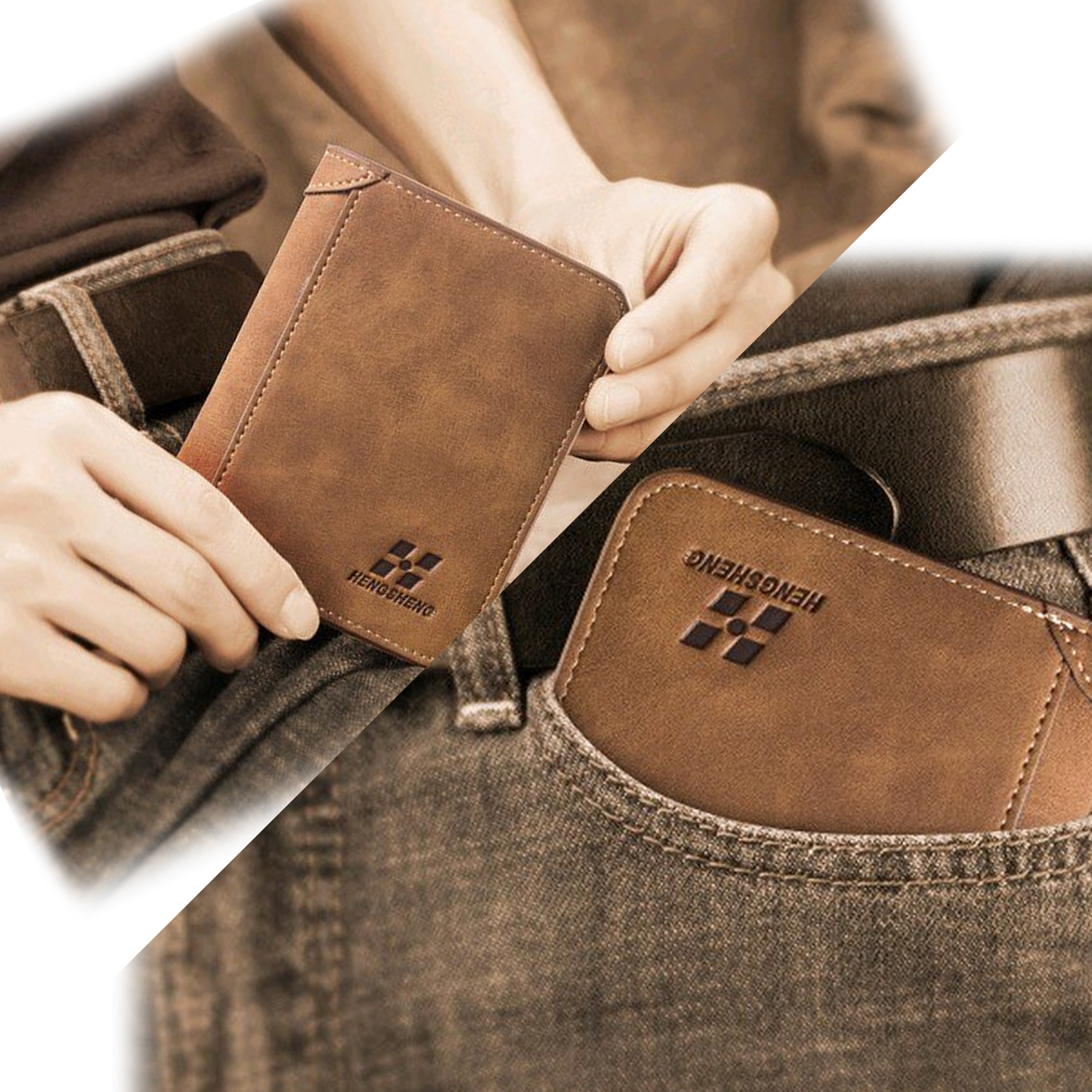 Retro Leather Wallet - Brown
