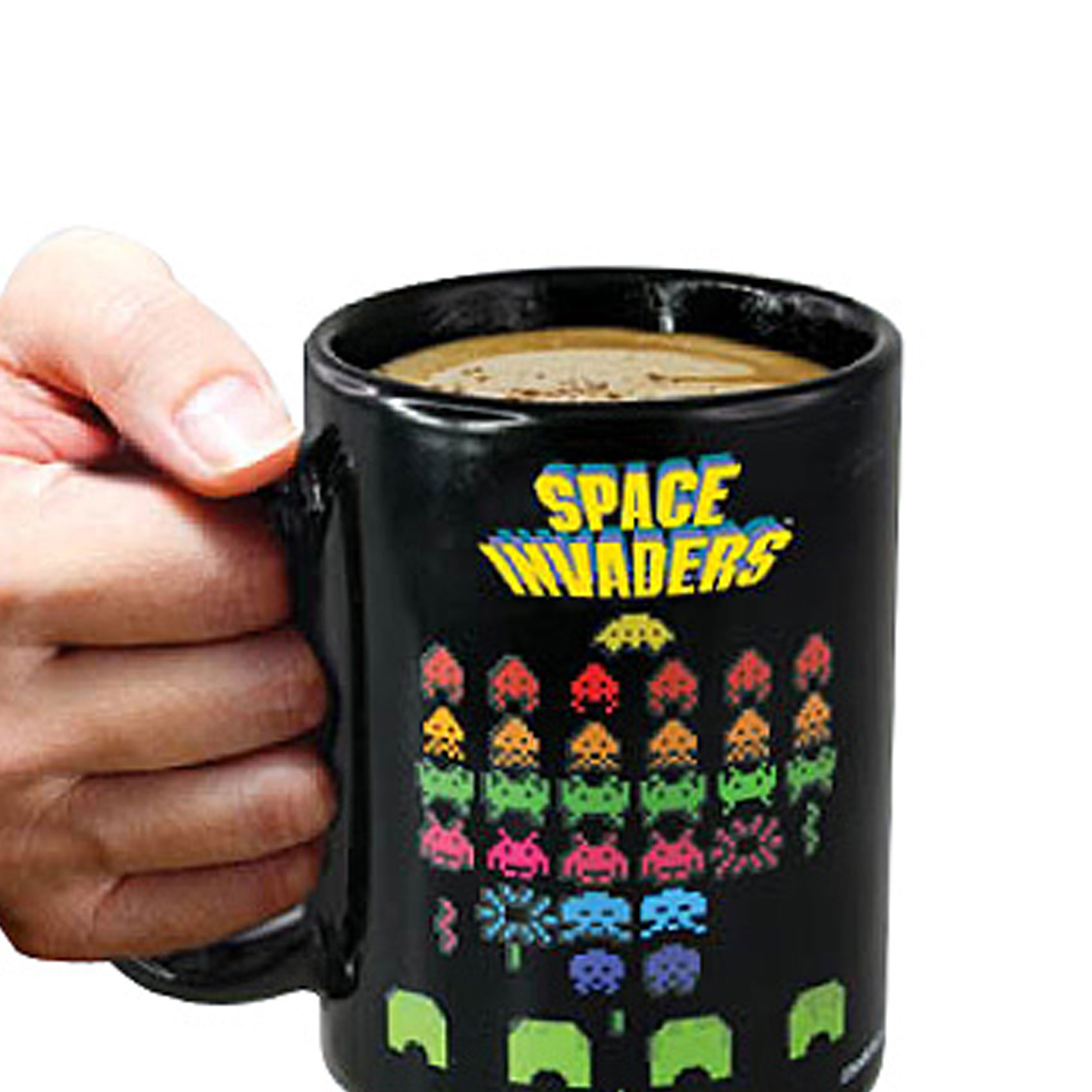 Space Invaders Heat Sensitive Color Changing Mug - Black