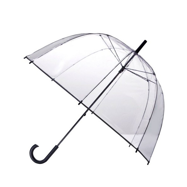 Transparent Dome Umbrella - Black