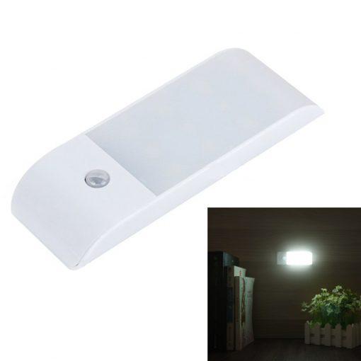 LED PIR Motion Sensor Lamp USB Rechargeable - White