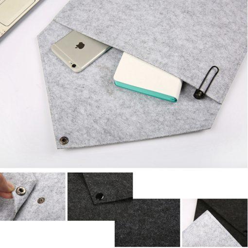 A4 Felt File Folder Bag Envelope - Grey