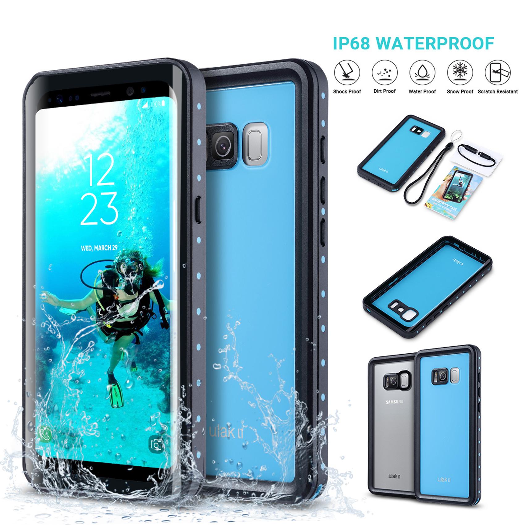 Samsung S8 IP68 Waterproof Full Cover Case - Black