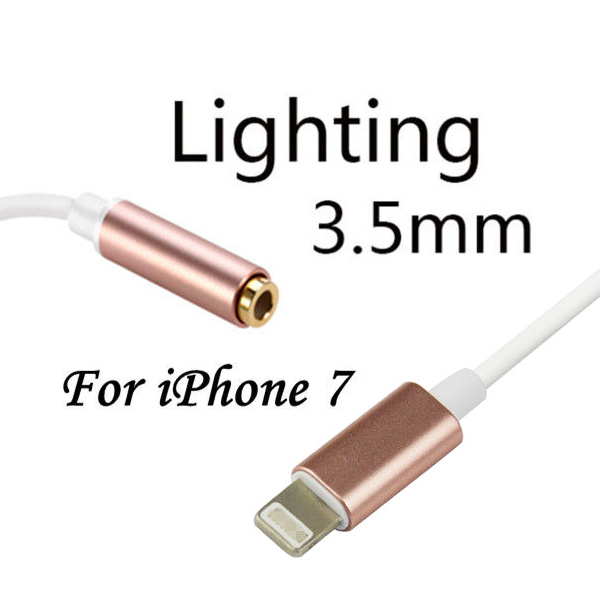 MFI Lightning to 3.5mm Headphone Adapter For Apple iPhone - Pink