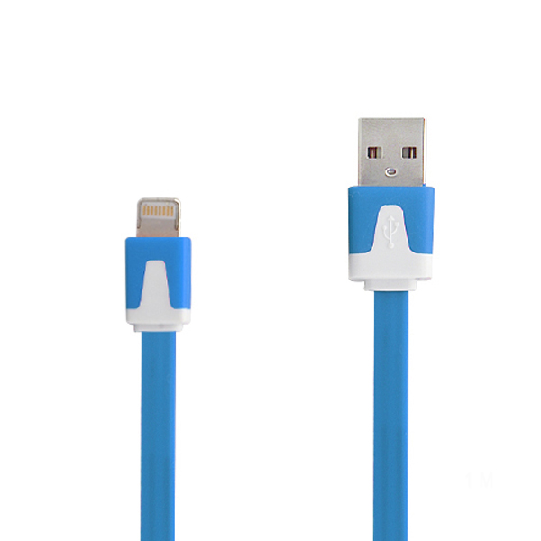 Lightning to USB Flat Data Cable - Blue