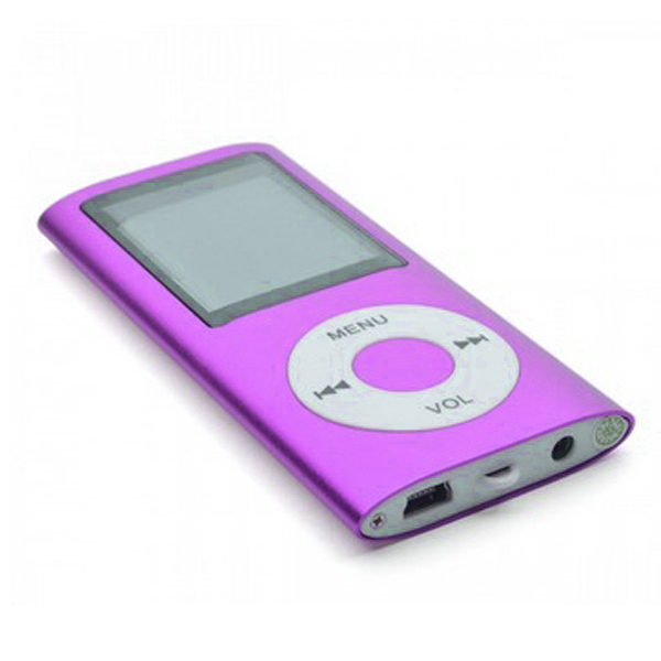 MP4 Multimedia Player with TF Card Slot - Purple