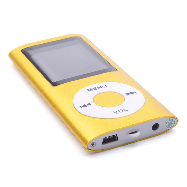 MP4 Multimedia Player with TF Card Slot -Yellow