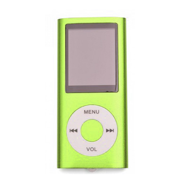 MP4 Multimedia Player with TF Card Slot - Green