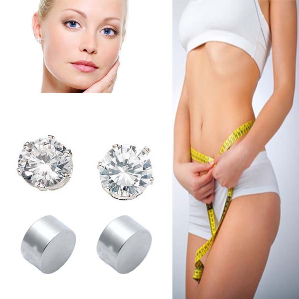 Magnetic Slimming Earrings - Silver