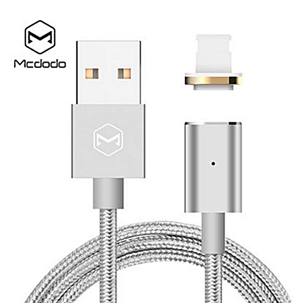 Mcdodo Lightning Magnetic Data Cable Dust Plug - Silver