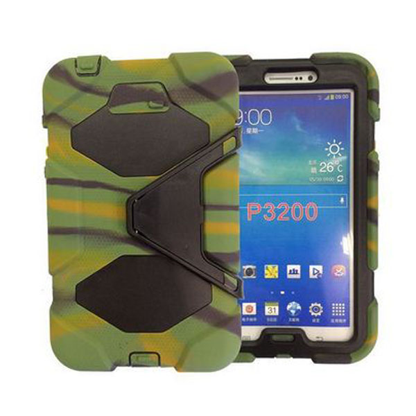 Heavy Duty  Rugged Combo Case Cover With Stand For Samsung Galaxy Tab 3 - Camouflage