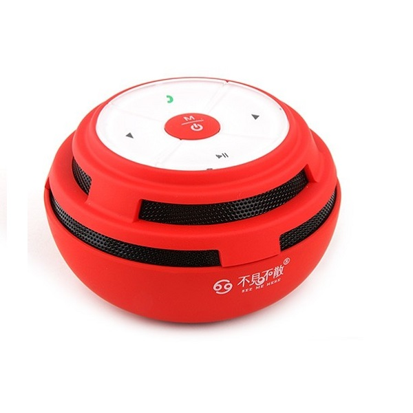 Mini BV200 Portable Bluetooth Hands-free Wireless Speaker - Red