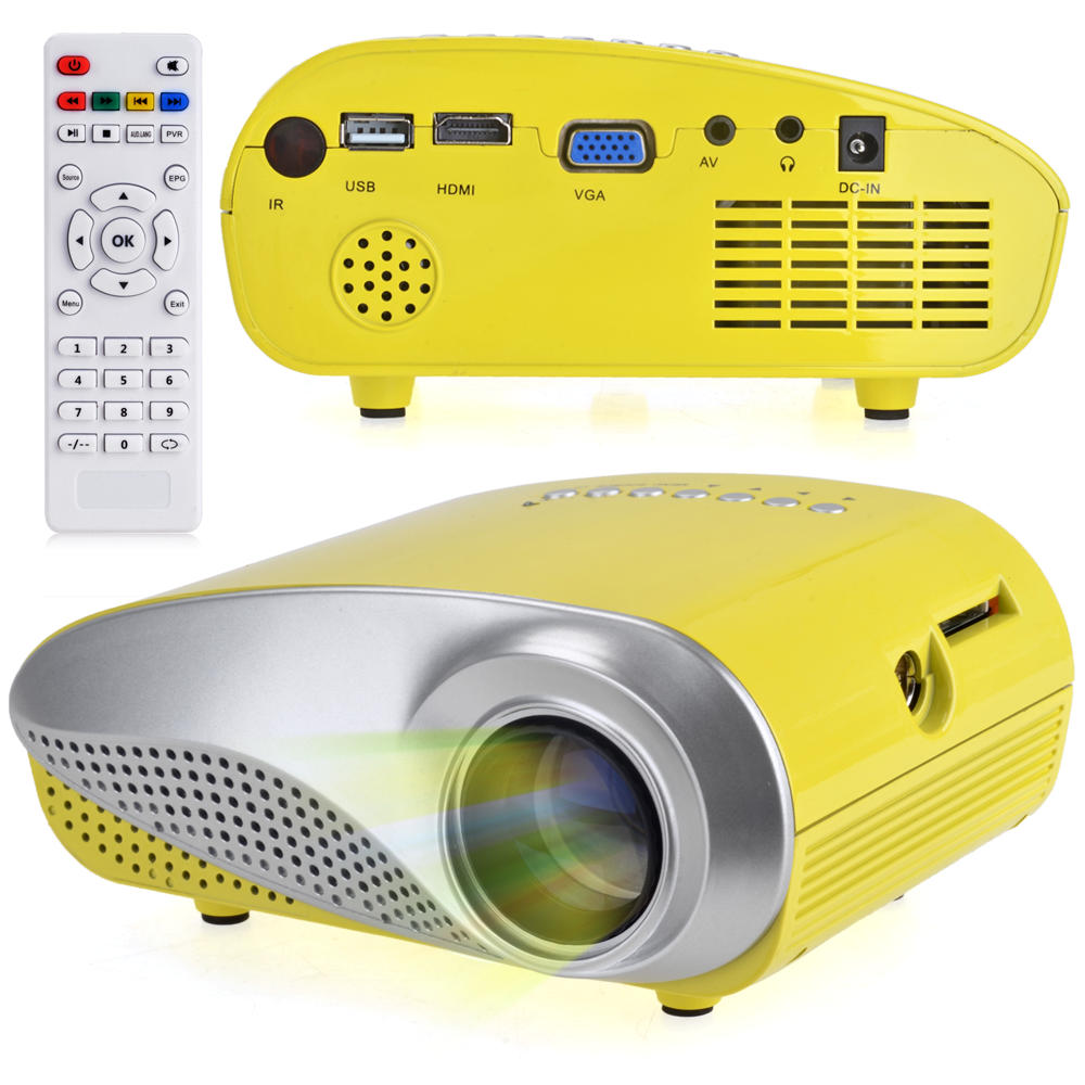 Mini Digital 60 Lumens LED Multimedia  - Yellow