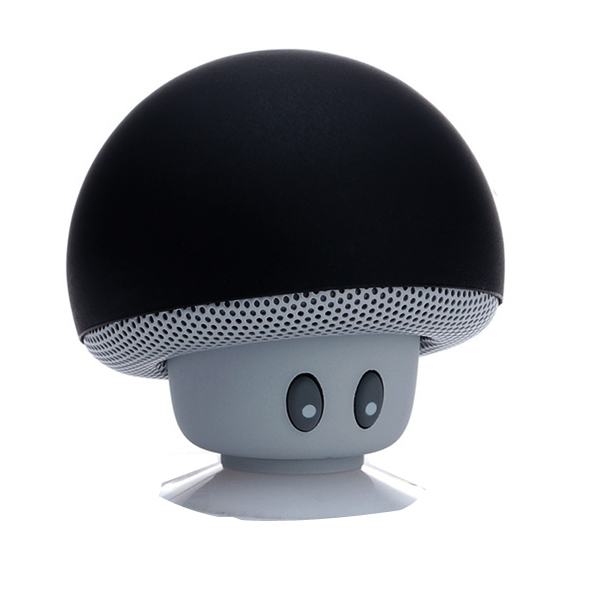 Mini Mushroom Bluetooth Speaker - Black