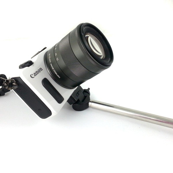 Monopod for Camera and Smartphones with Grip - Expandable 21 cm to 95 cm - Black