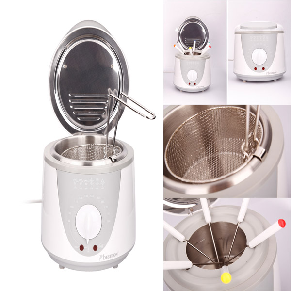Multifunction Bestron Deep Fryer And Fondue Pot - White