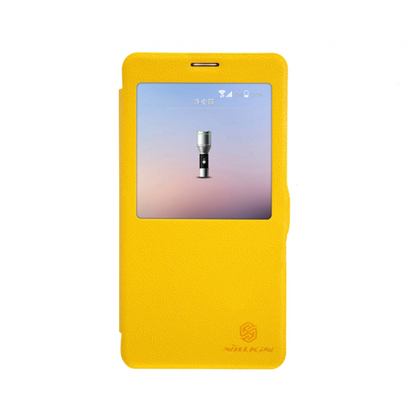 Nillkin View Window Leather Flip Case for Samsung Galaxy Note 4 - Yellow