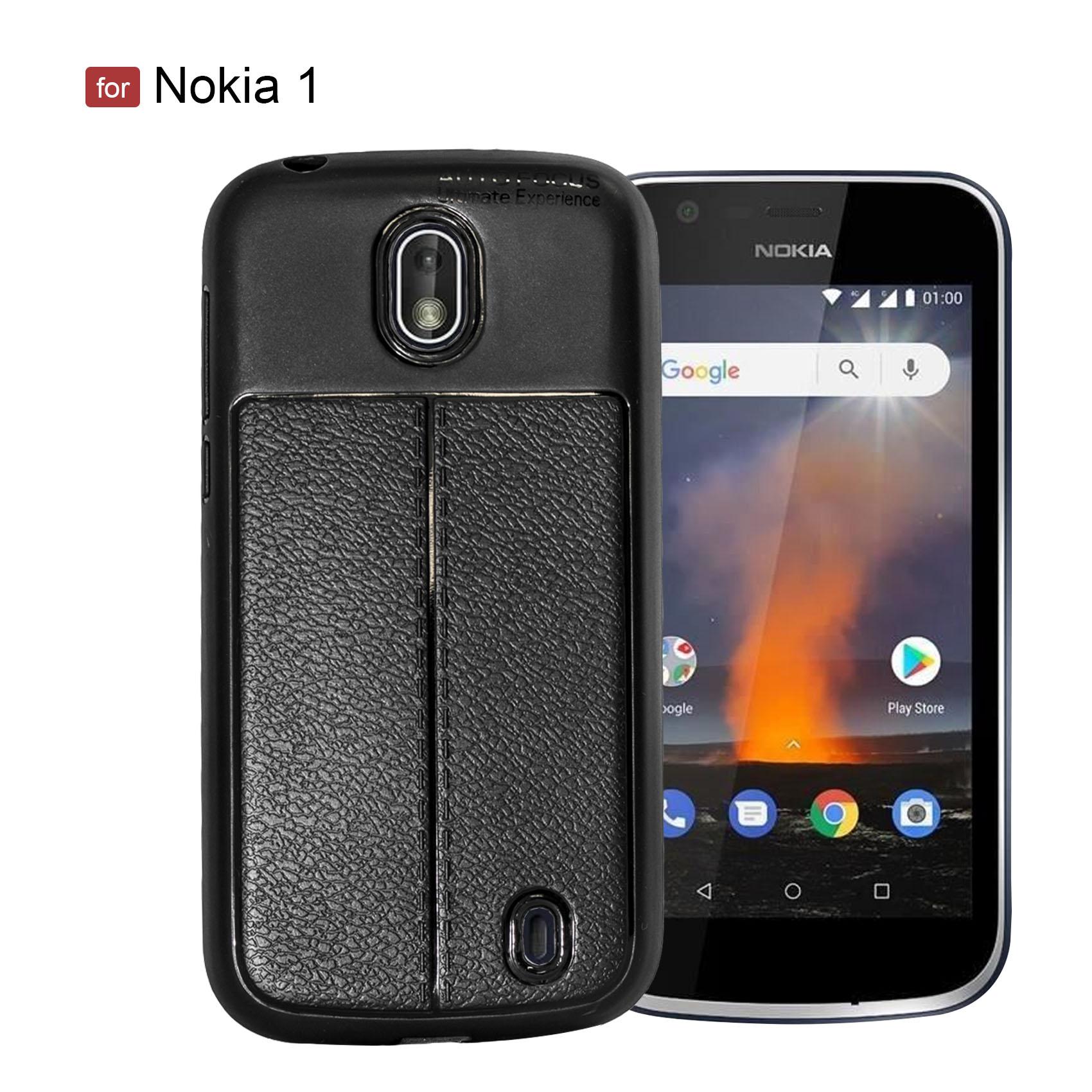 Nokia 1 Autofocus Silicon Back Cover Case - Black