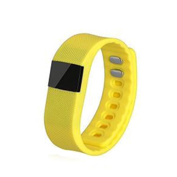 OLED Bluetooth Health Monitor Sports Bracelet - Yellow