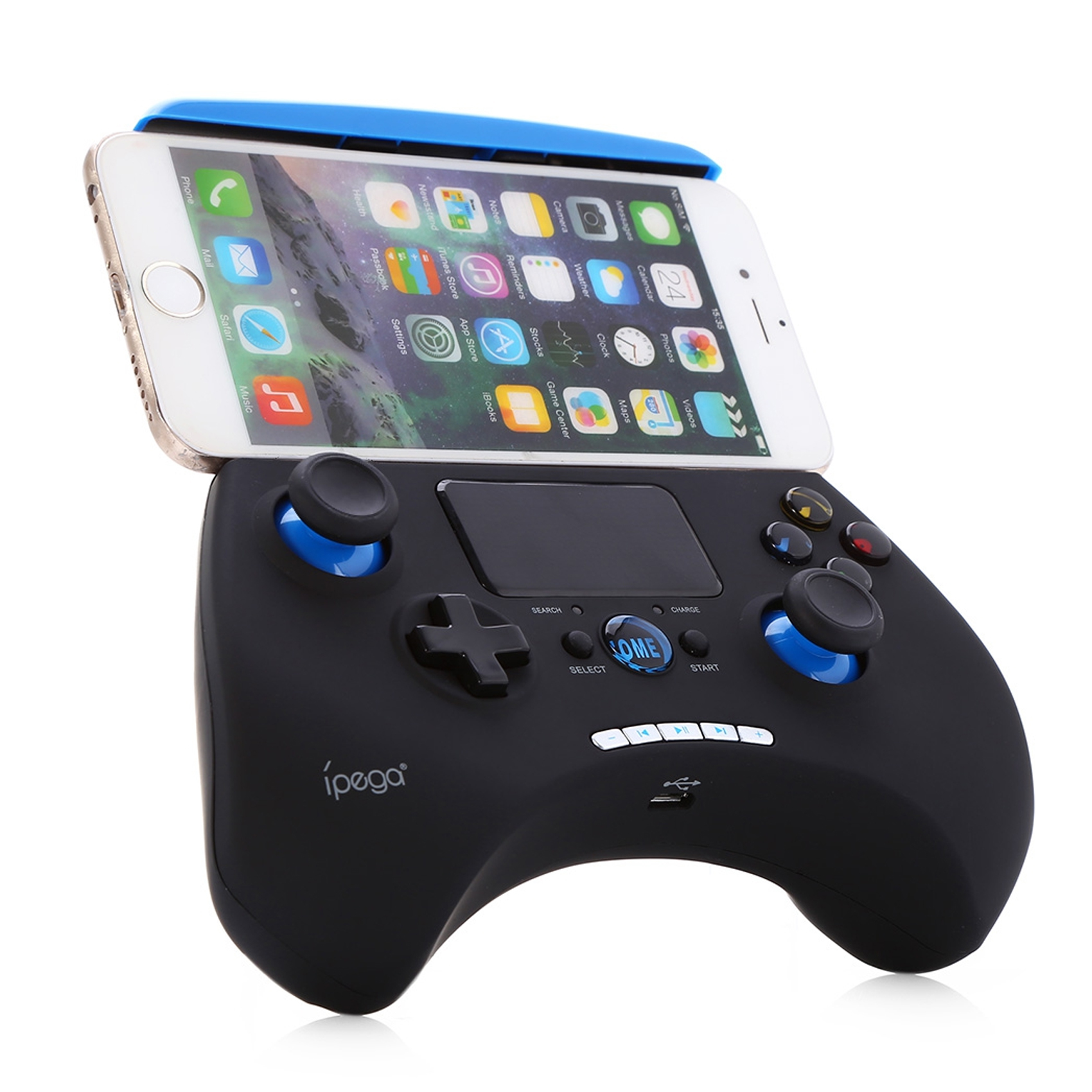 Ipega Touch Pad Bluetooth Game Controller - Black/Blue