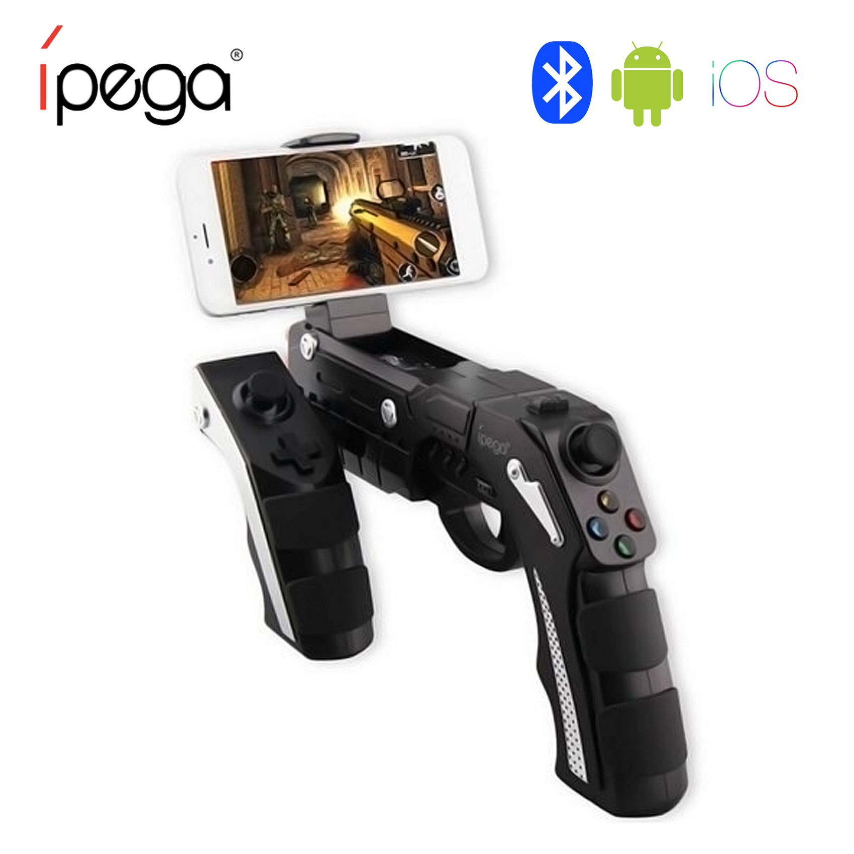 Ipega Phantom Shox Blaster Bluetooth Gun For Android And IOS - Black