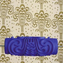 15cm Patterned Paint Roller Wall Kamala - Blue