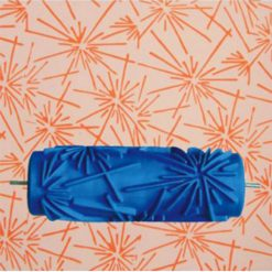 15cm Patterned Paint Roller Wall Sparkle - Blue