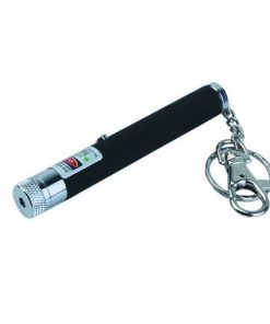 5 mW 532NM Green Laser Pointer Star Pen Key Chain - Black