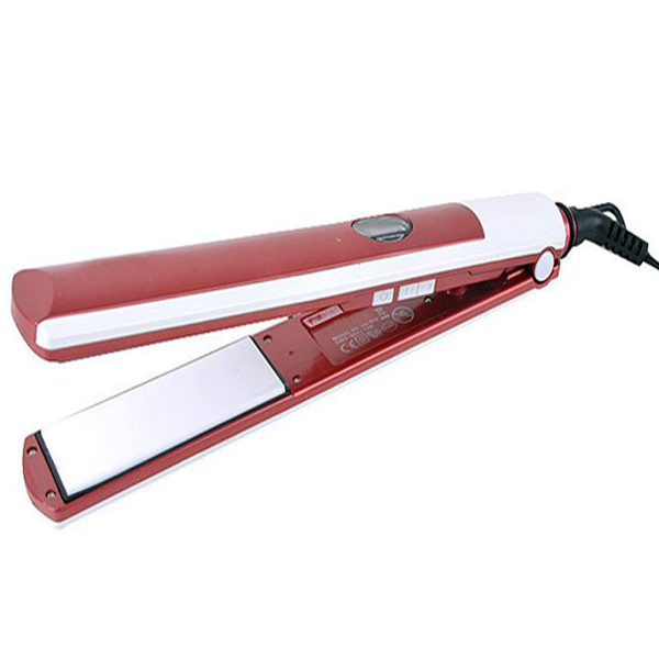 Pro Max Ceramic Hair Straightening Crimper  Iron - Red