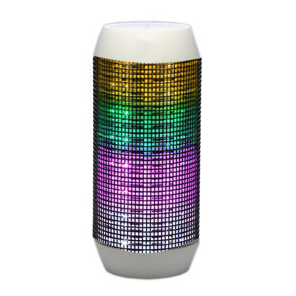 Pulse Wireless Bluetooth LED Speaker - White
