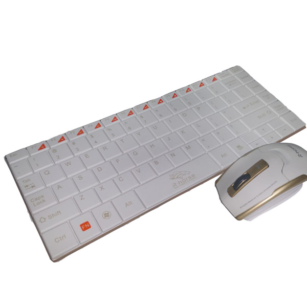 2.4Ghz Wireless Keyboard and Mouse - White