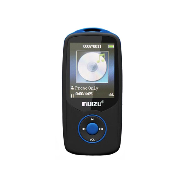 RUIZU X06 Bluetooth Sports MP3 Music Player with 4GB 1.8 Inch Screen - Blue